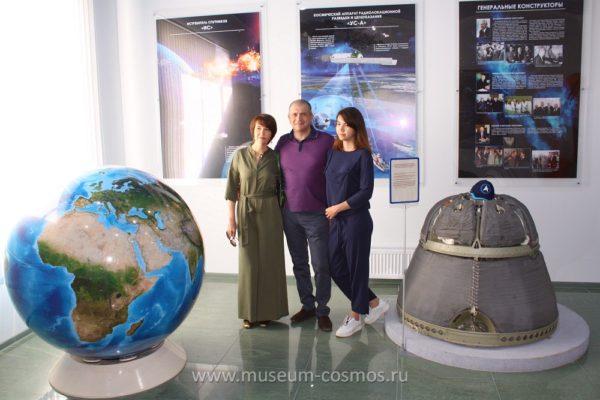Сергей Иванович Кобылаш в нашем музее с супругой и дочерью