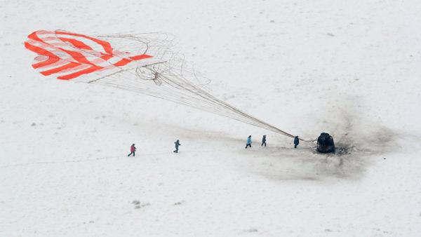 Пилотируемый корабль Союз МС-09 успешно приземлился